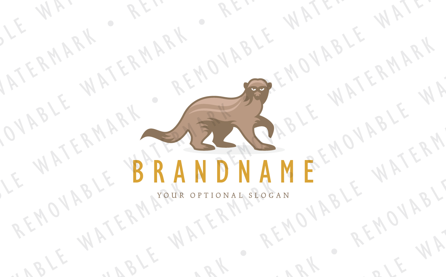 Honey Badger Logo Template