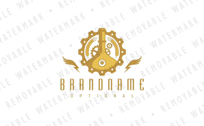 Steampunk Brewery Logo Template