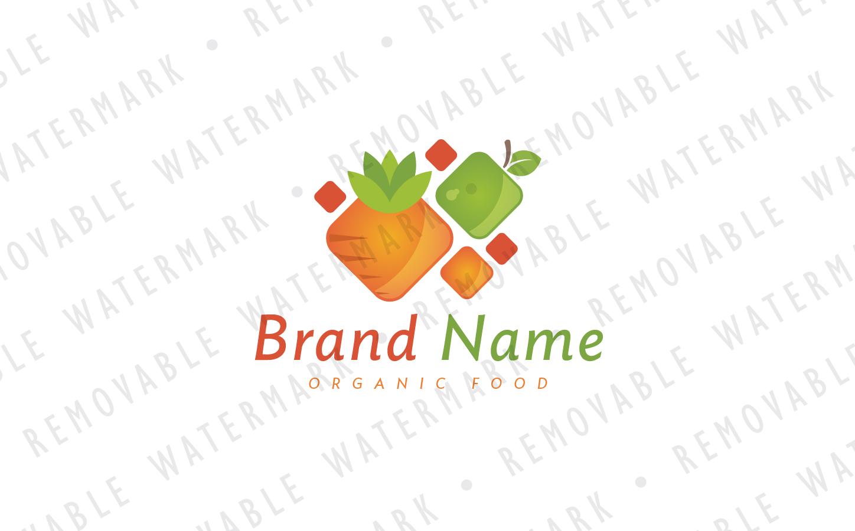 Square Vitamins Logo Template