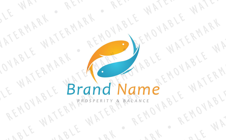 Pisces Harmony Logo Template