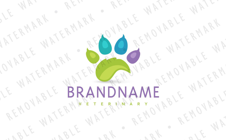 Healing Paw Logo Template