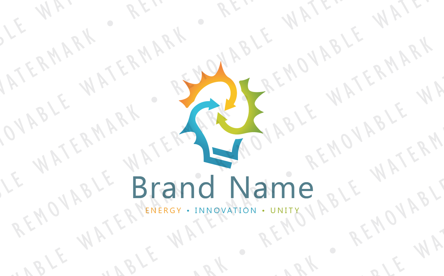 Smart Synergy Bulb Logo Template