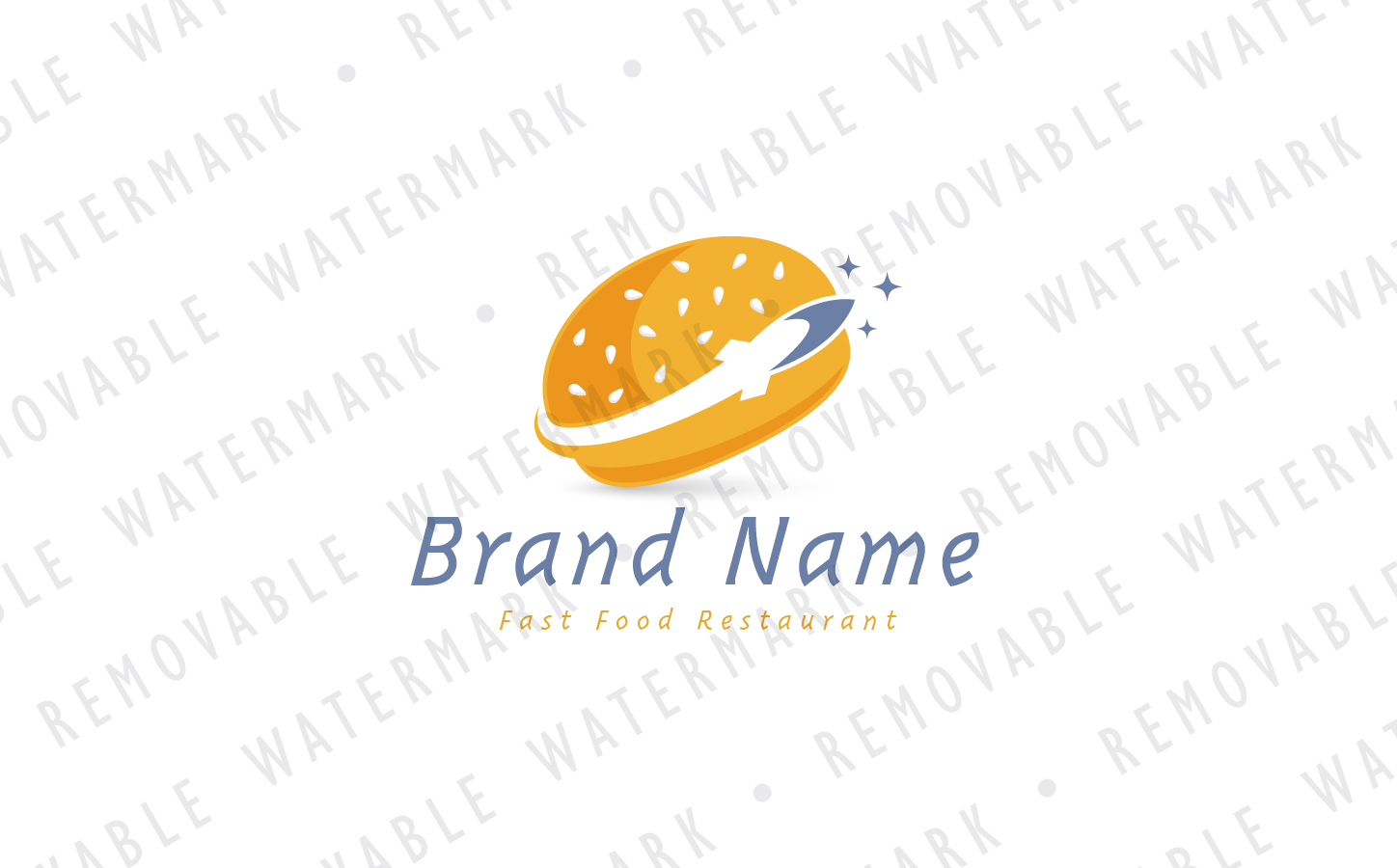 Rocket Burger Logo Template