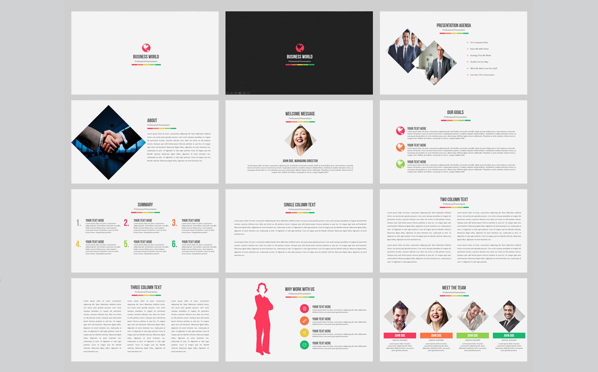 Business World PowerPoint Template