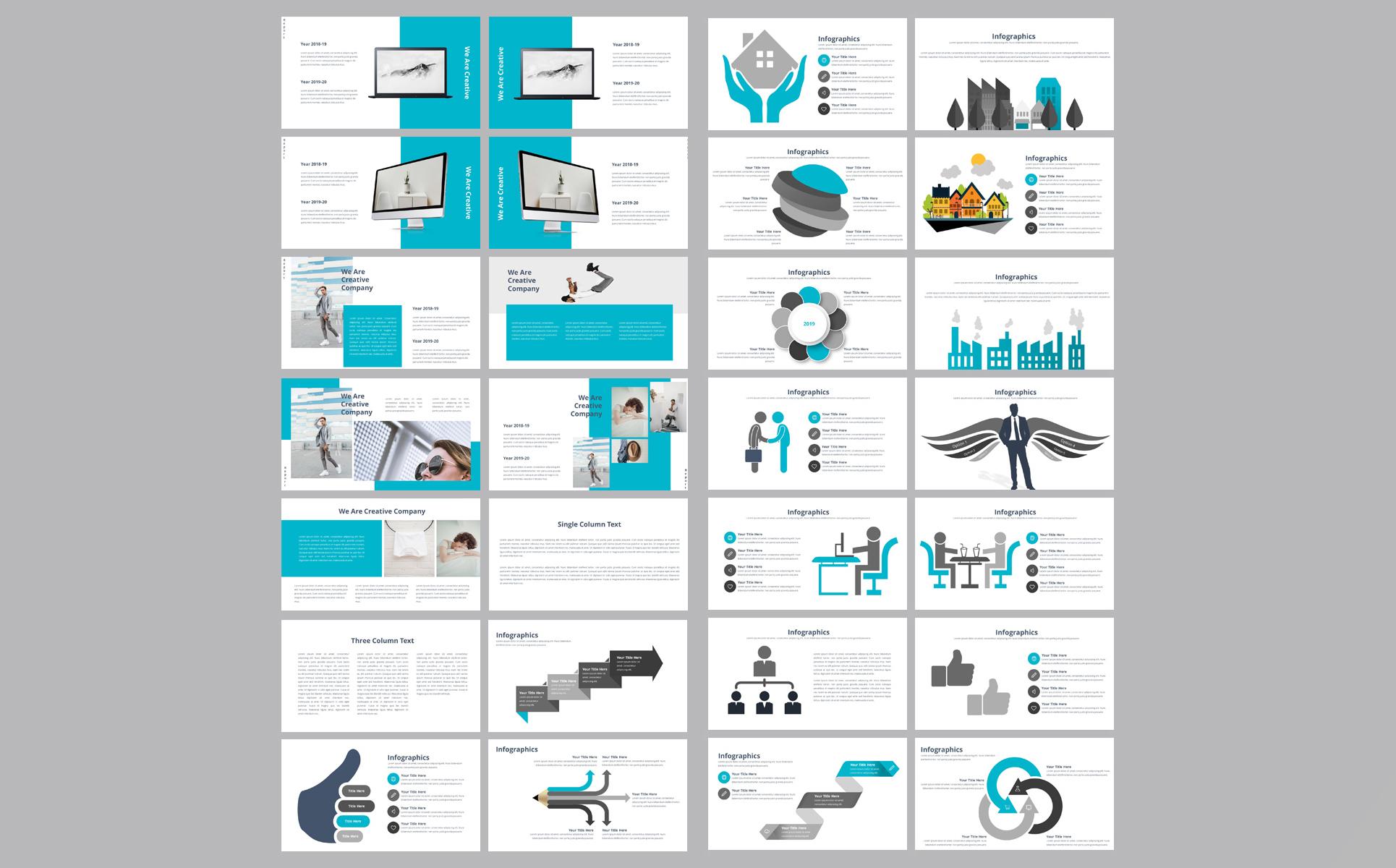 Report Presentation PowerPoint Template