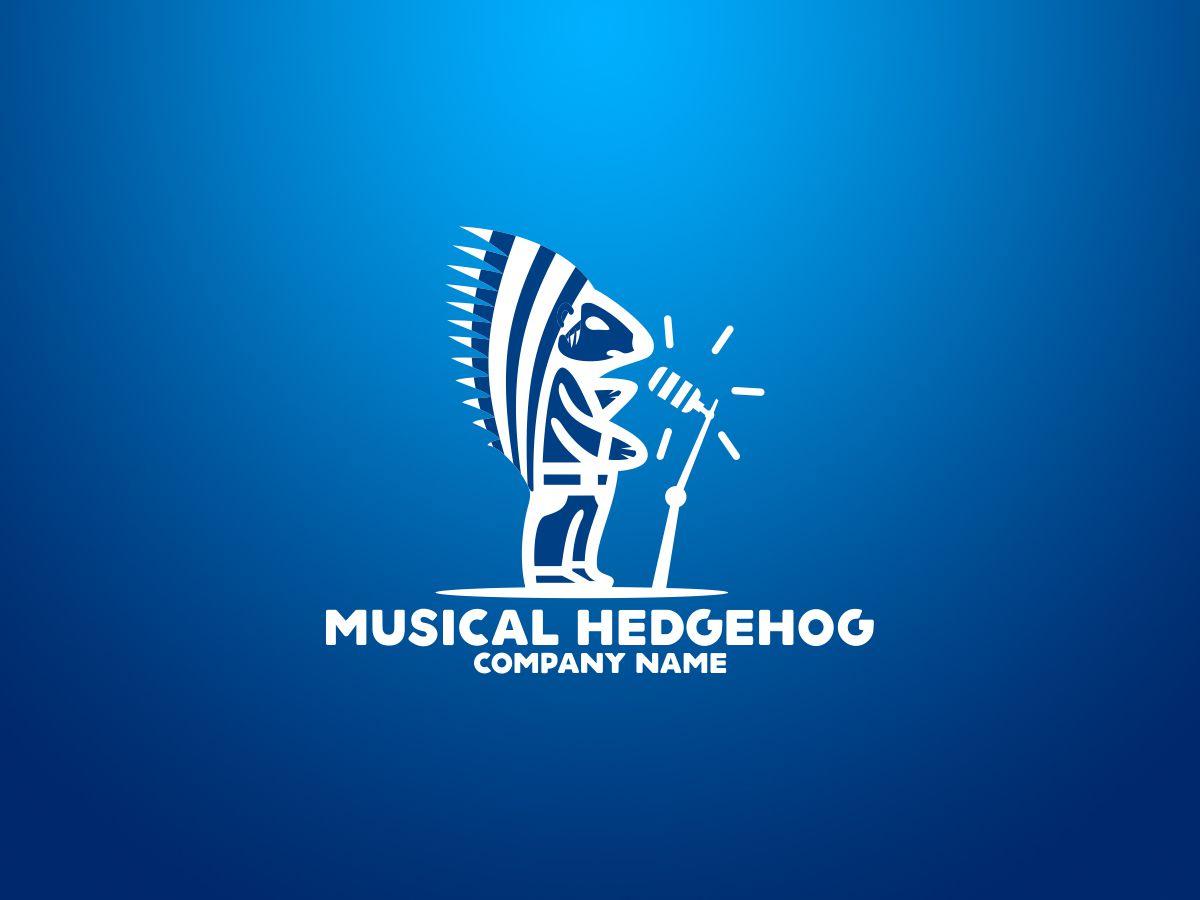 Musical Hedgehog Logo Template