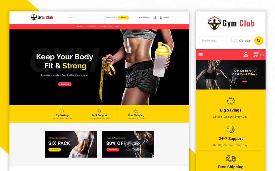 Gym Club PrestaShop Theme