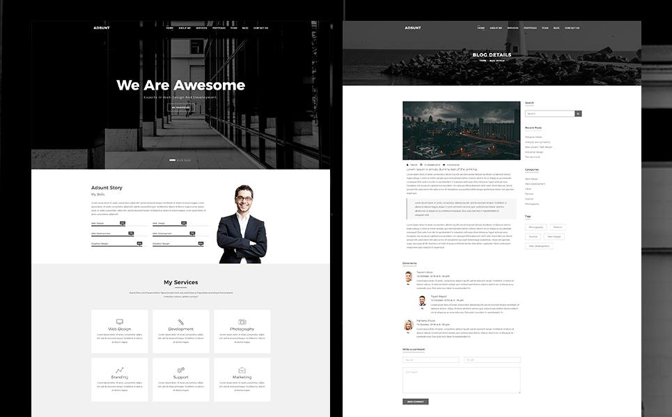 Adsunt - One Page Portfolio Landing Page Template