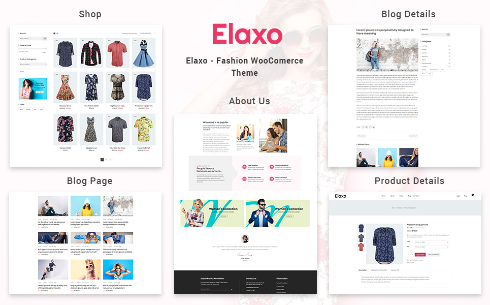 Elaxo - Fashion WooCommerce Theme