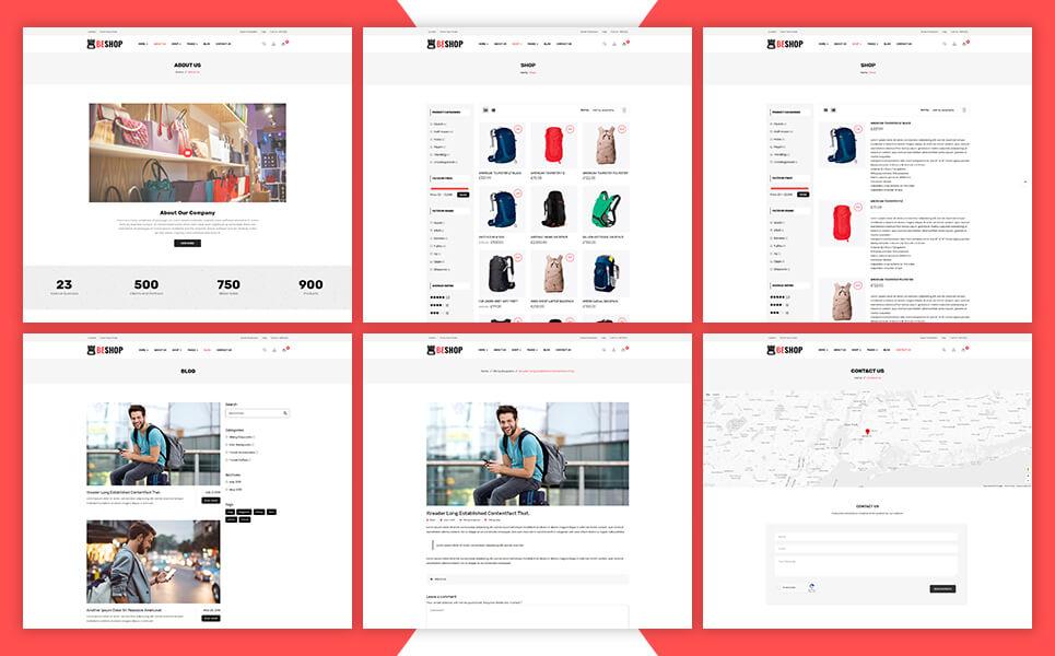 Beshop - Backpacks WooCommerce Theme