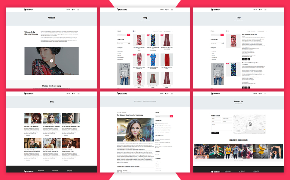 Charming - Fashion WooCommerce Theme