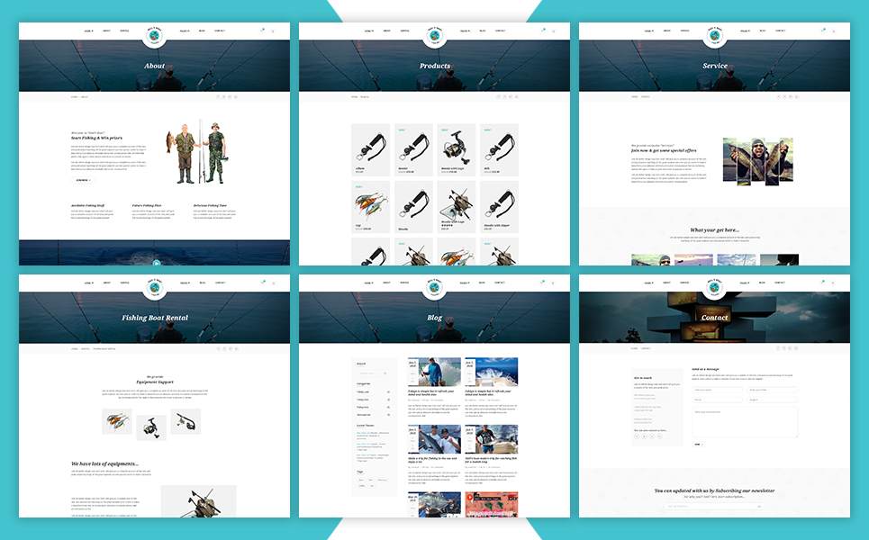 Nails Boat - Fishing And Hunting Club Shopify Theme