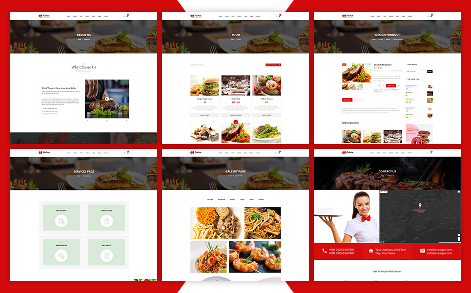 Aahar - Restaurants eCommerce Shopify Theme