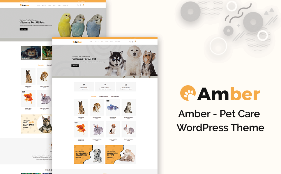 Amber – Pet Care WooCommerce Theme