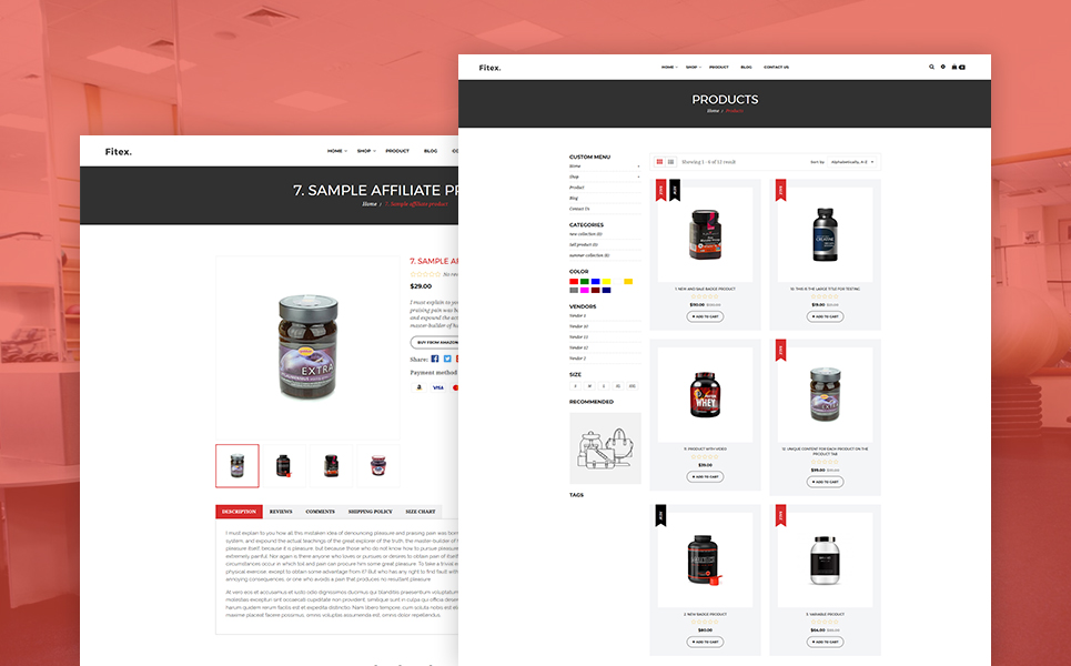 Fitex - Sport Nutrition Shopify Theme