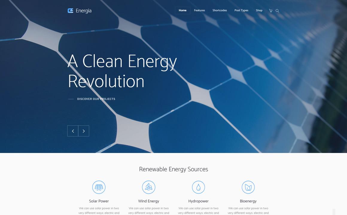 Energia - Renewable Energy & Environment WordPress Theme