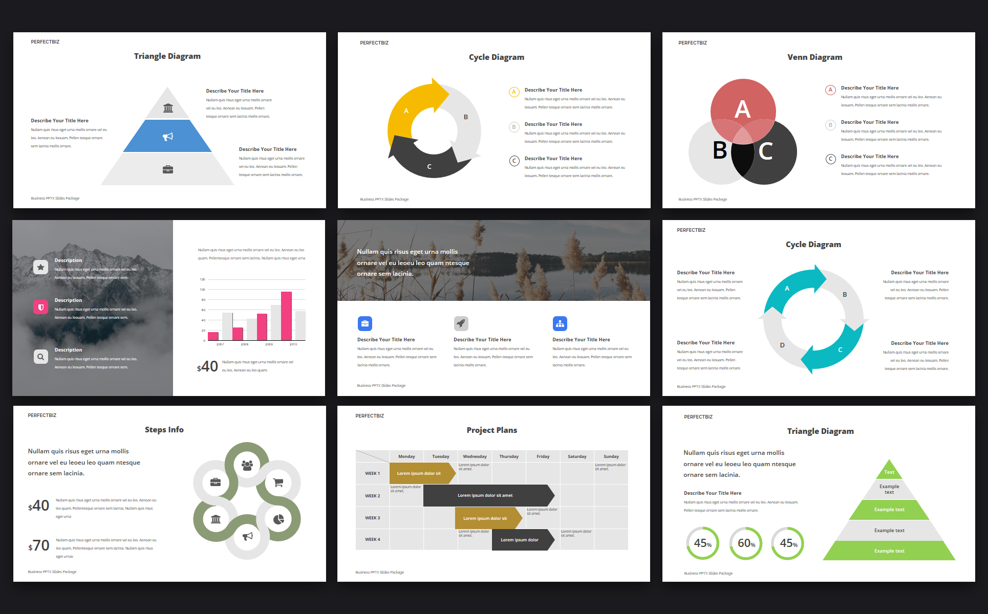 PerfectBiz Business PPTX Slides Package PowerPoint Template