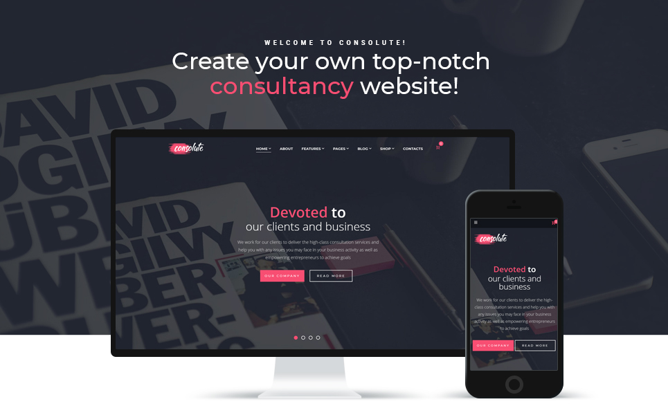 Consolute - Powerful Consulting Agency WordPress Theme