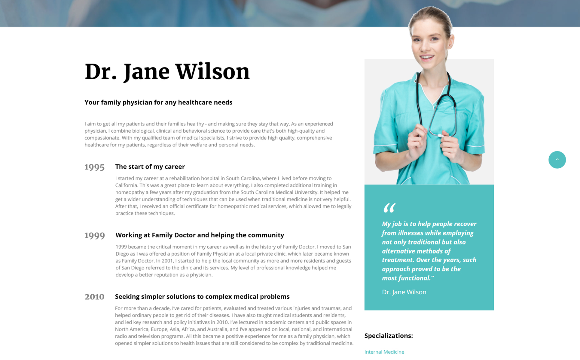 Family Doctor - Medical Consulting Multipage HTML5 Website Template