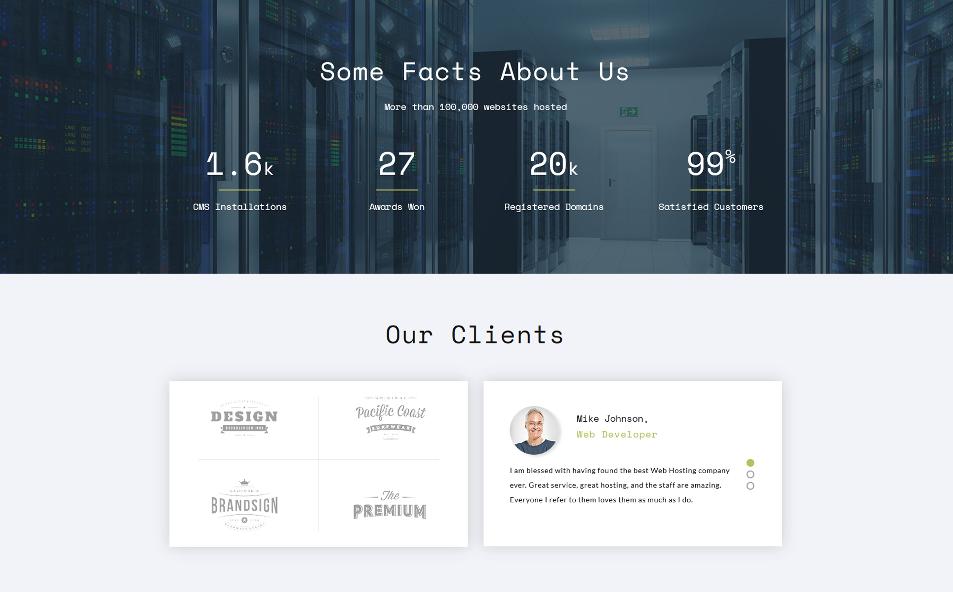 Rocket Host - Domain And Hosting Multipage HTML5 Website Template