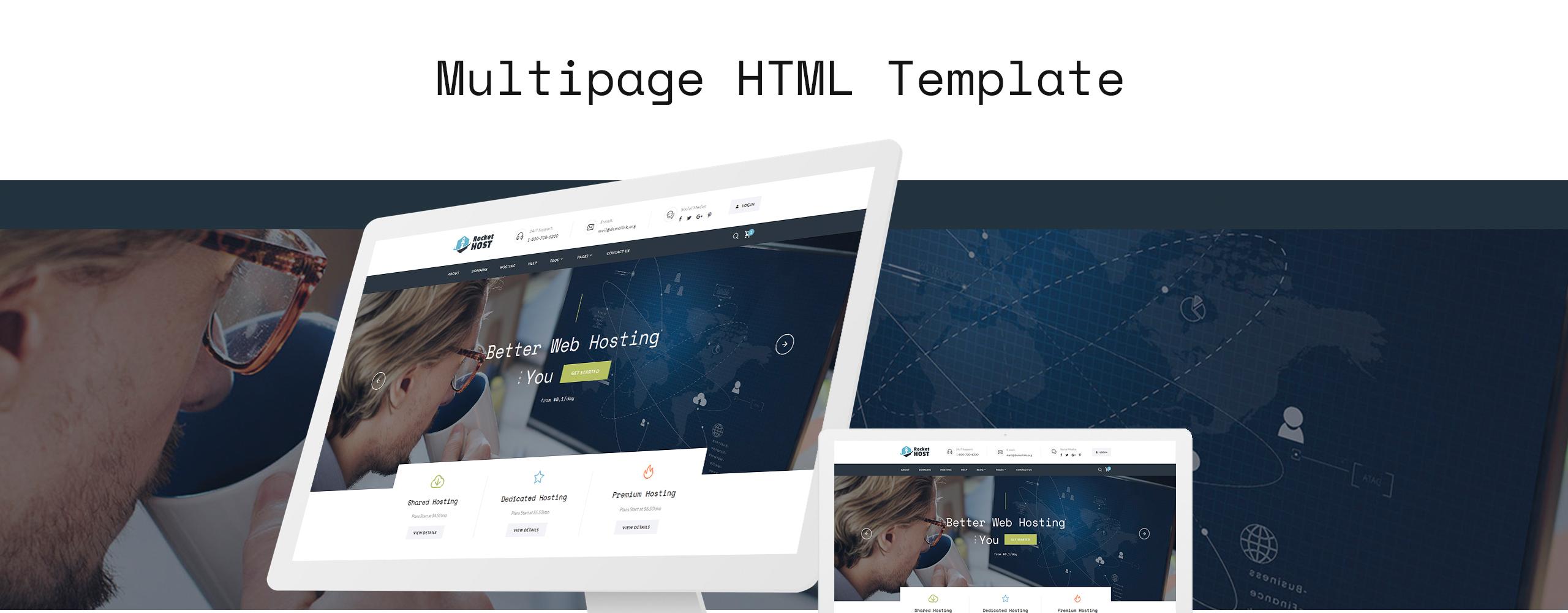 Rocket Host Website Template