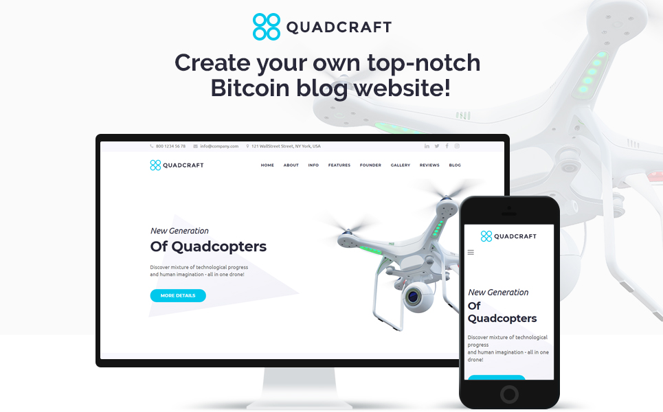 Quardcraft - Drone Template for UAV Needs with the Elementor Builder WordPress Theme