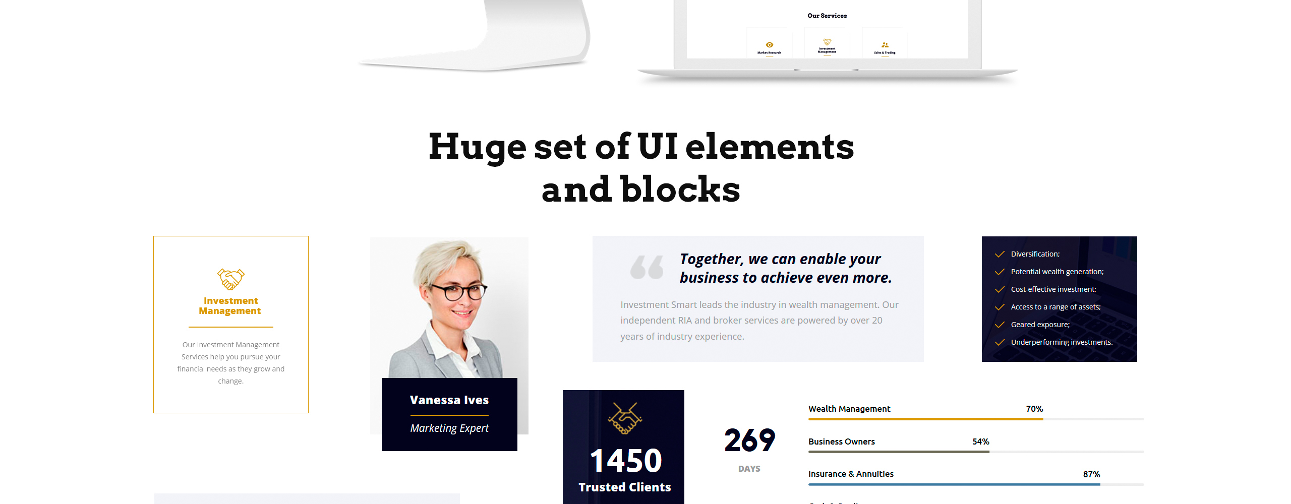 Investment Smart Website Template