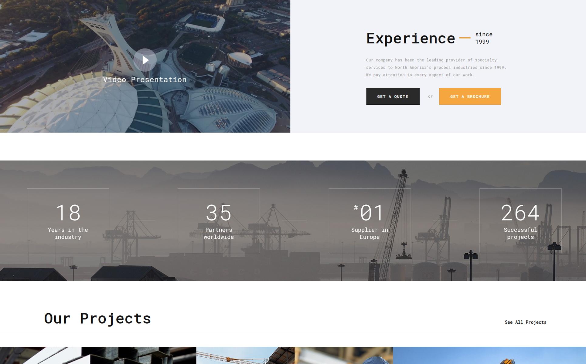 Spectrum - Construction Multipage HTML Website Template