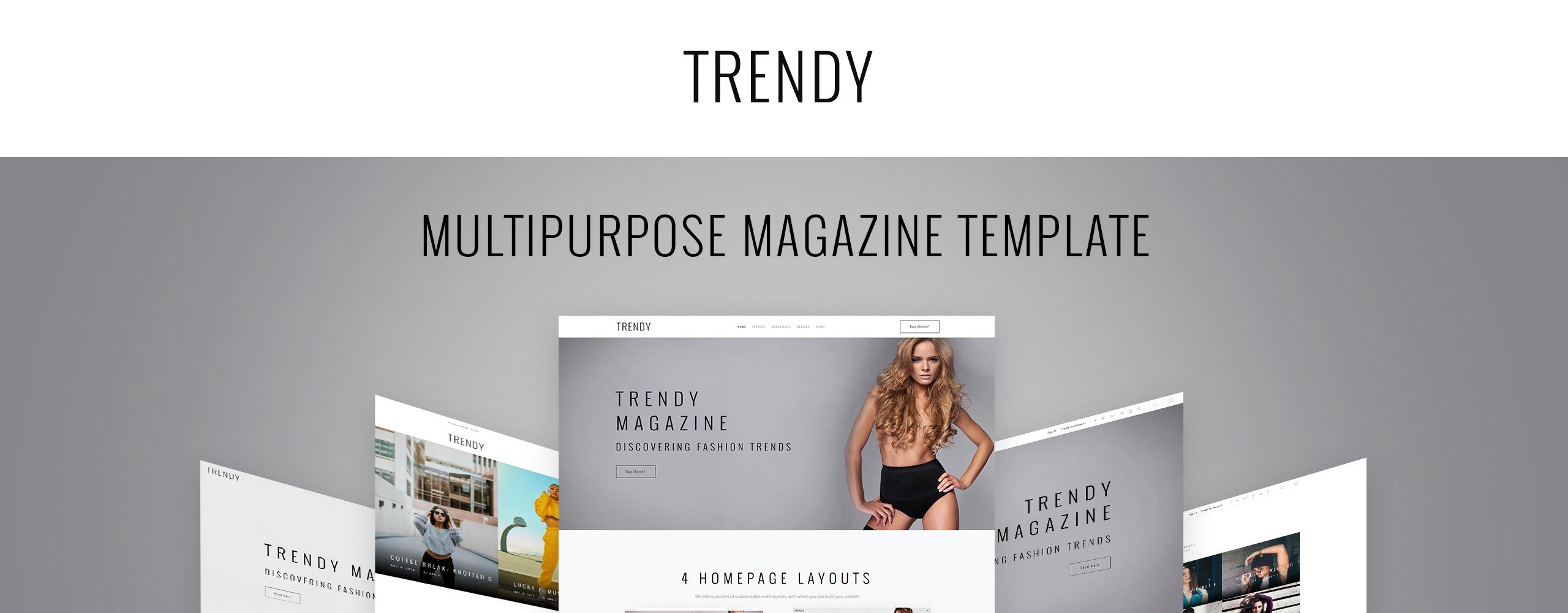 Trendy Website Template