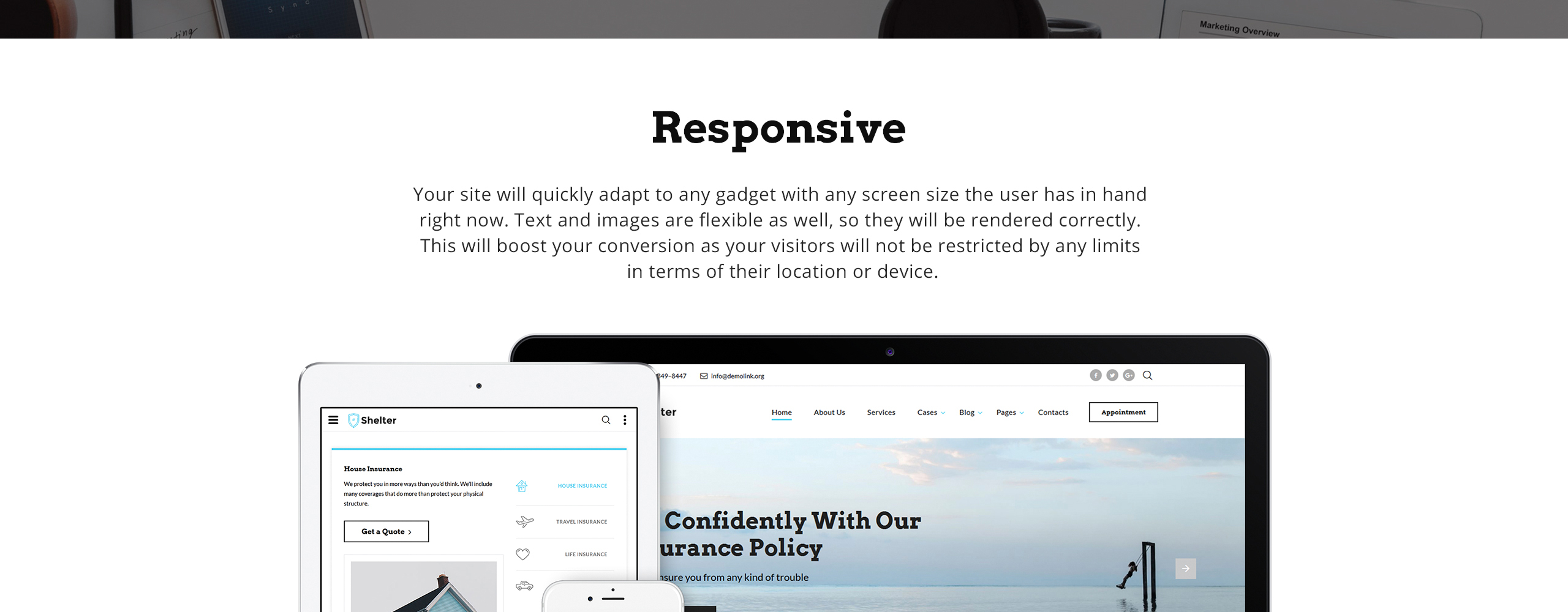 Shelter Website Template