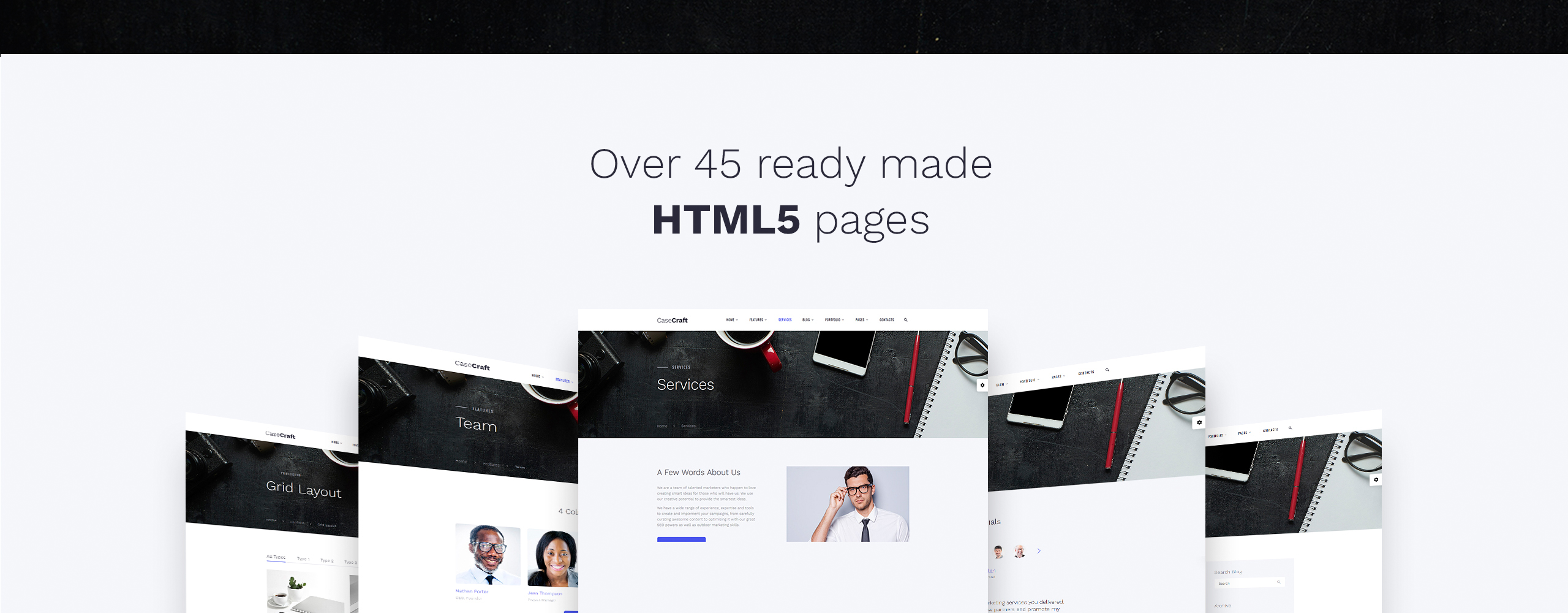 CaseCraft Website Template