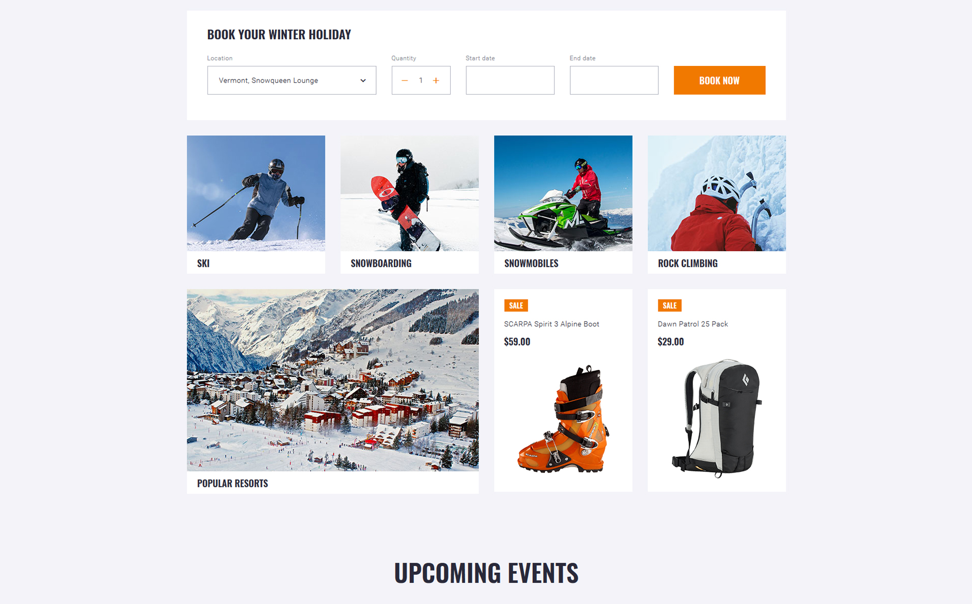 WinTravel - Winter Tourism Responsive Multipage Website Template