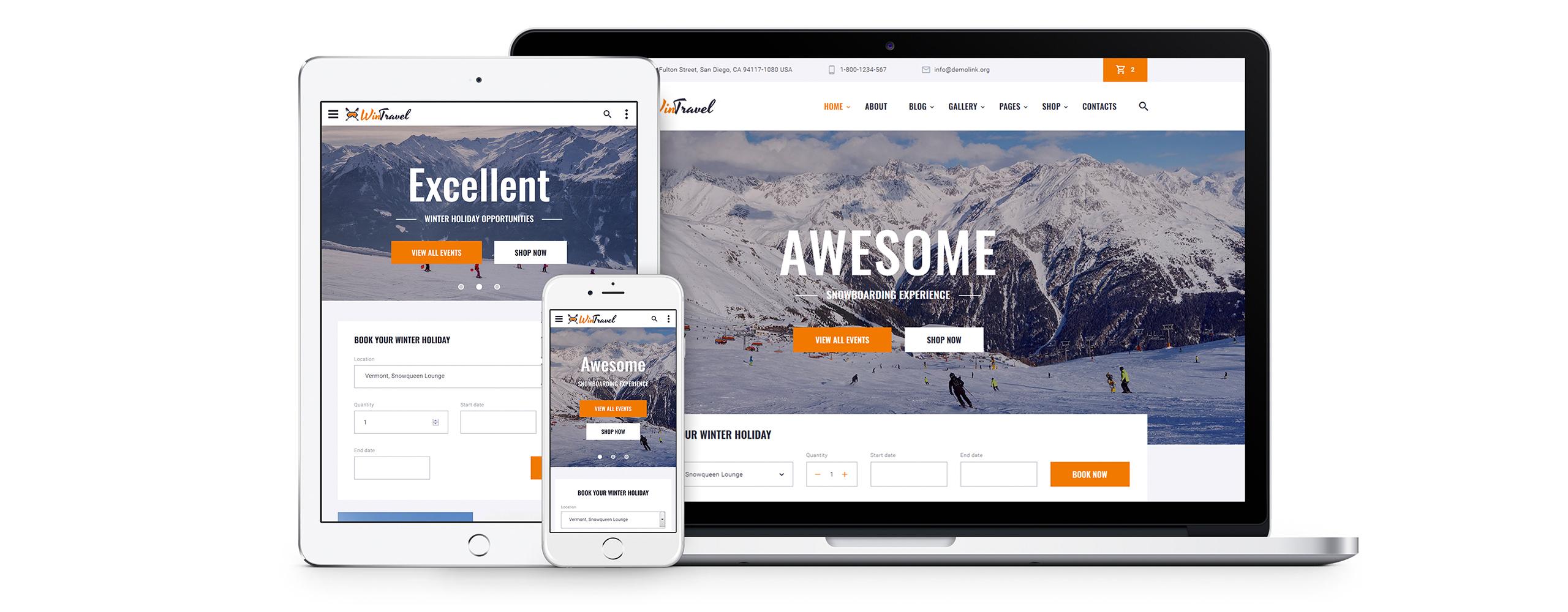 WinTravel Website Template
