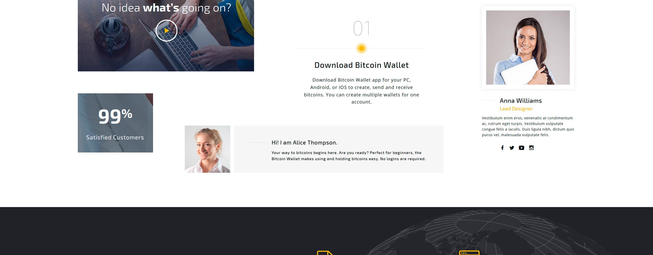 Bitcoin Landingspagina Template