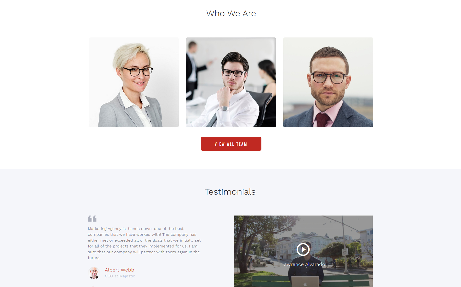 Marketing Agency - Responsive Multipage Website Template