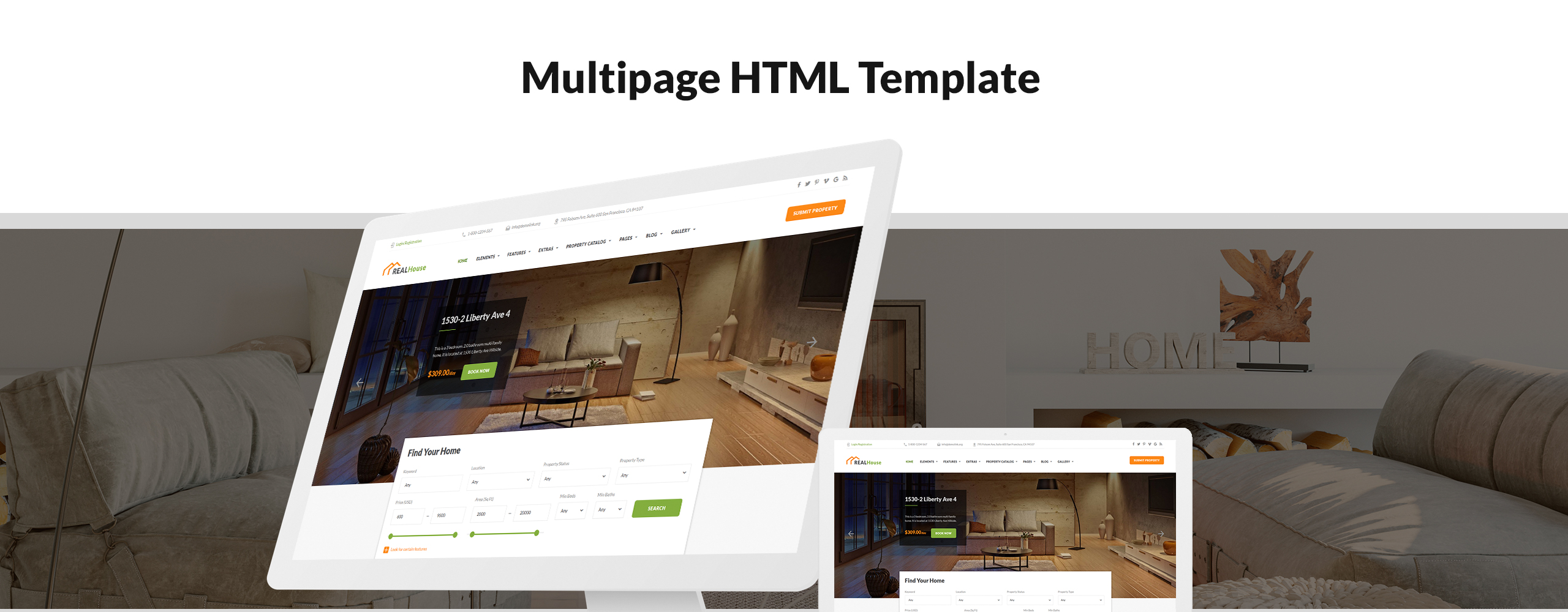 RealHouse Website Template