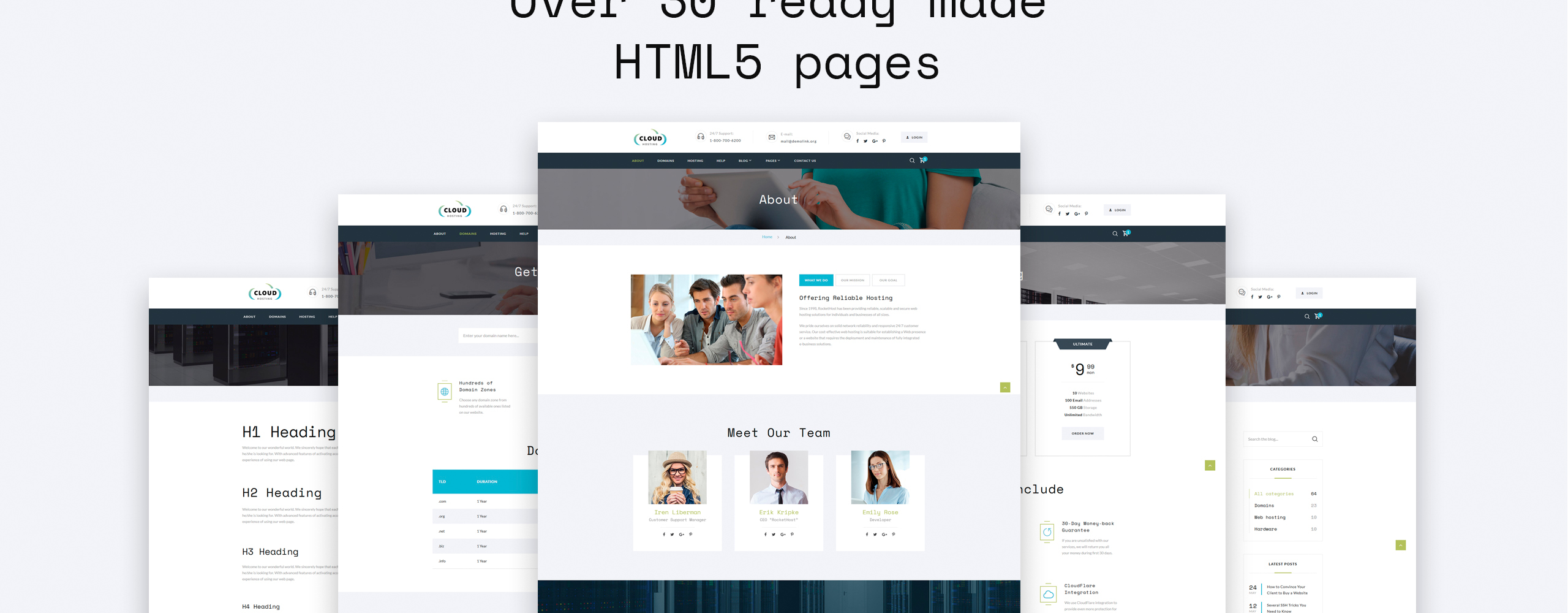 Cloud Website Template