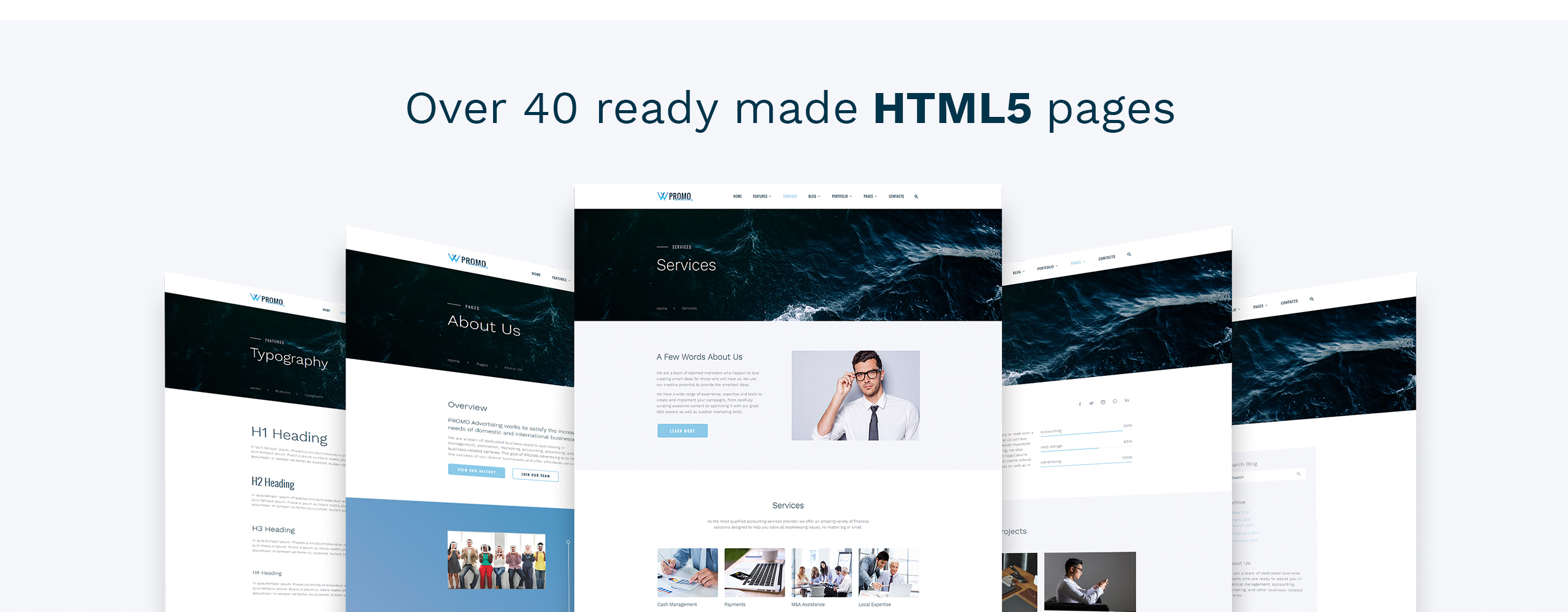 Promo Website Template