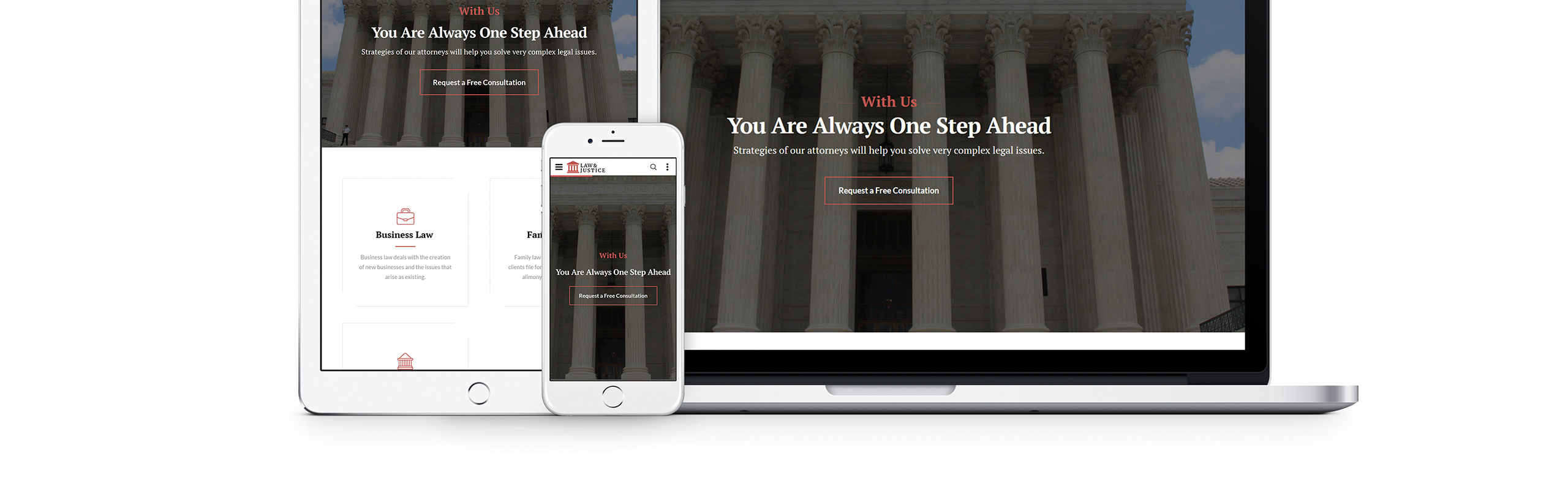 Law & Justice Website Template