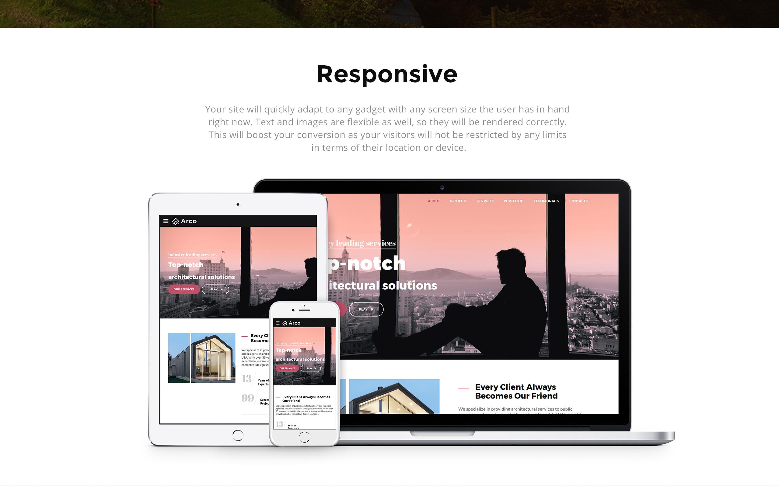 Arco - Elegant Architect Portfolio HTML Landing Page Template