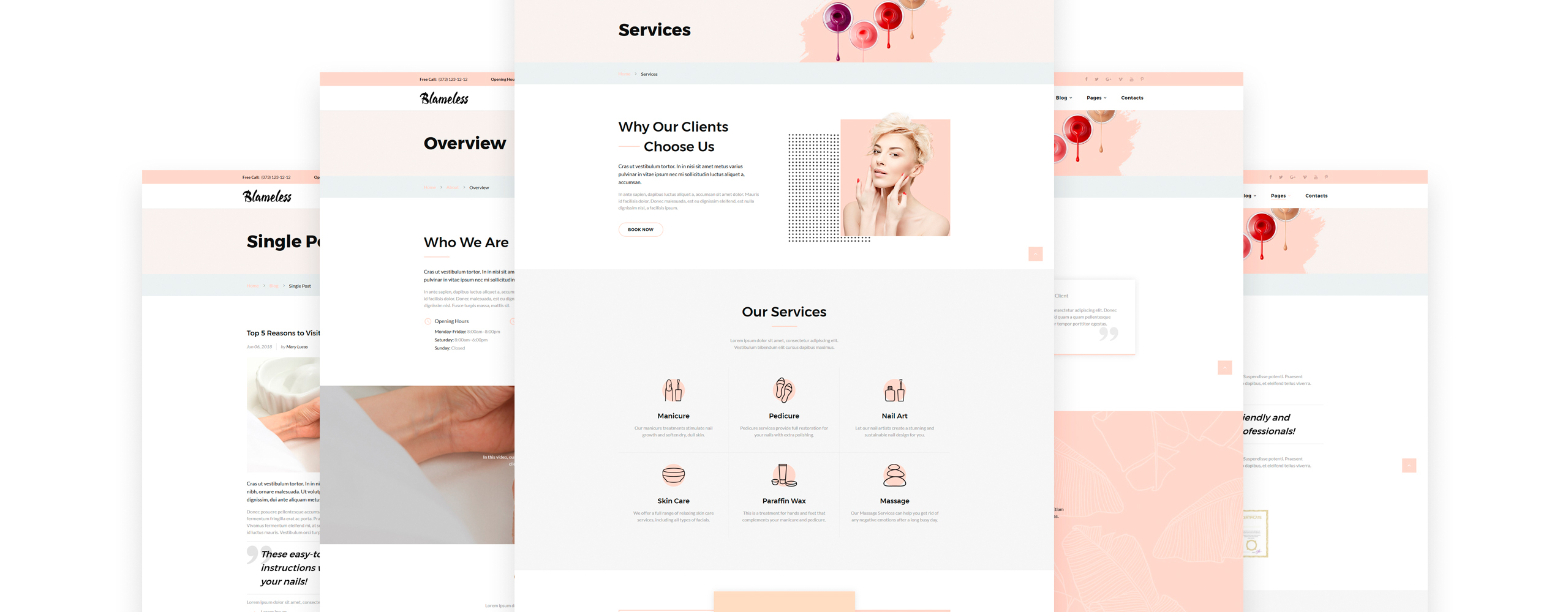 Blameless Website Template