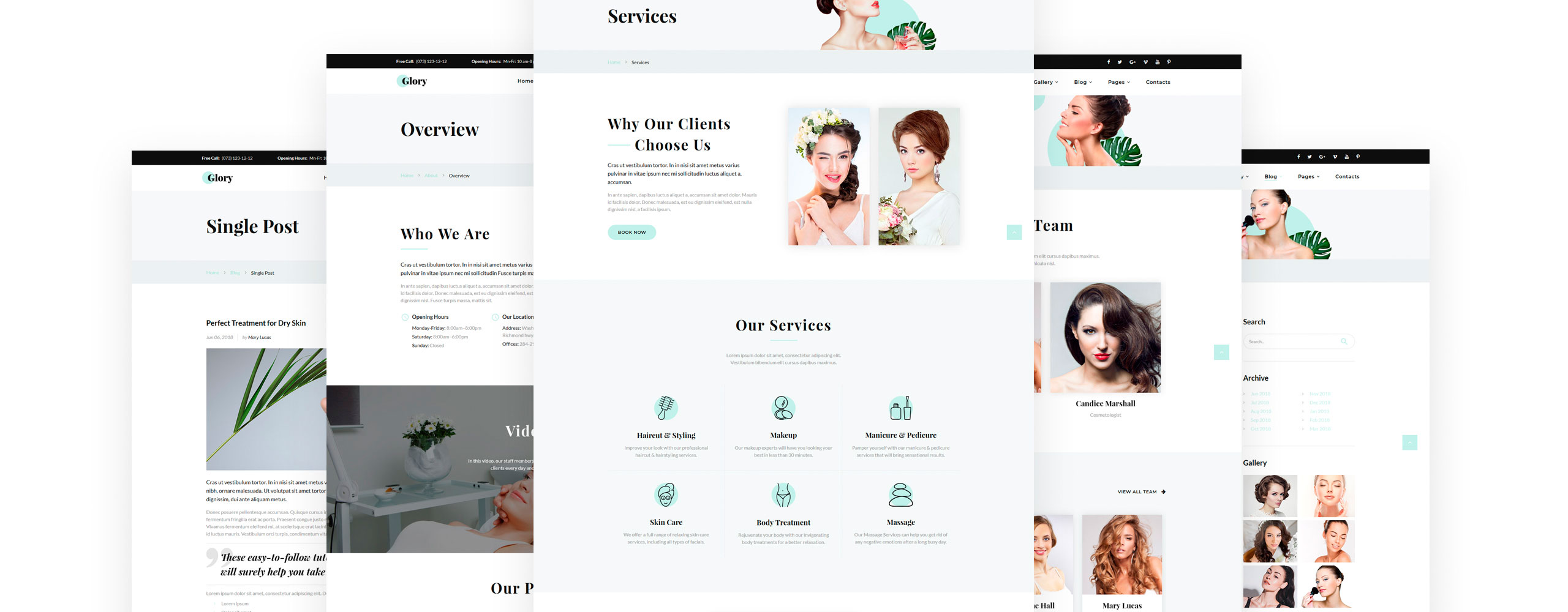 Glory Website Template