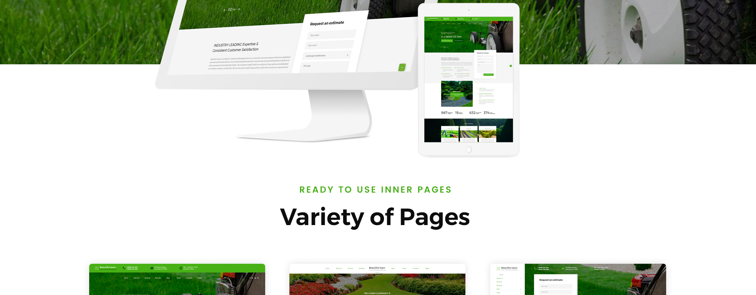 Beautiful Lawn Website Template