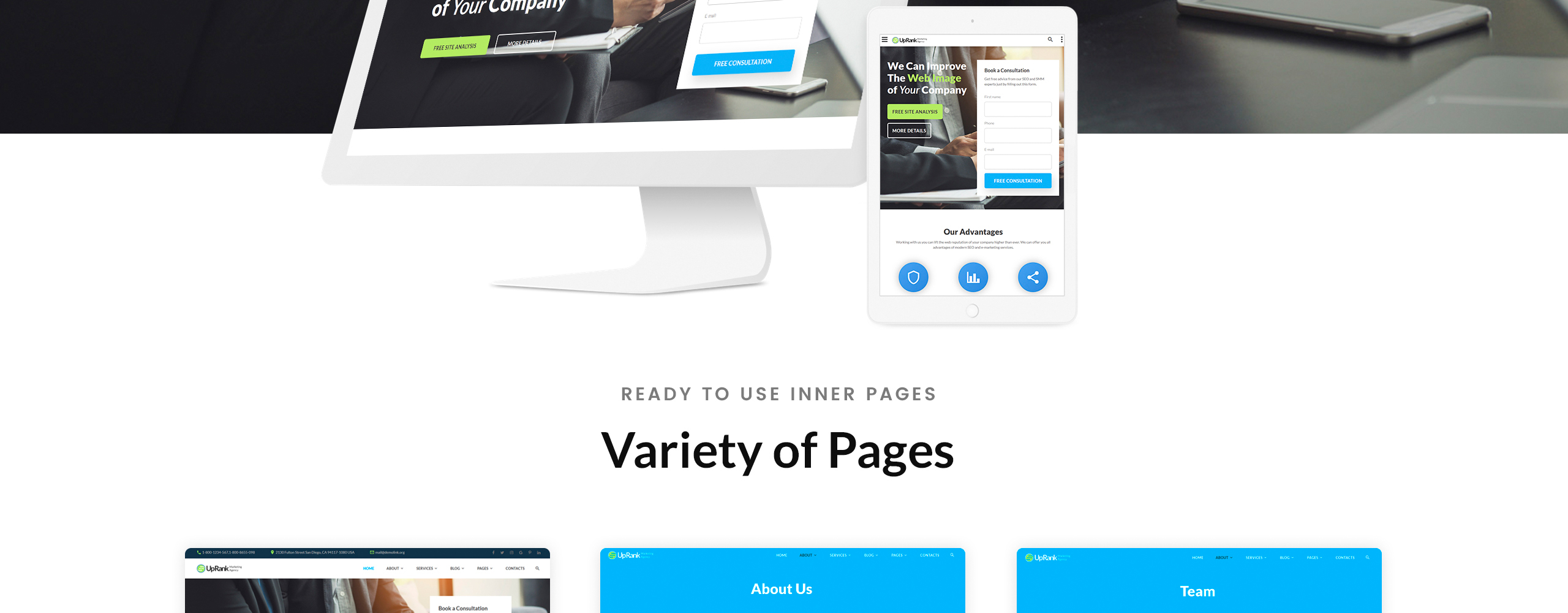 UpRank Website Template