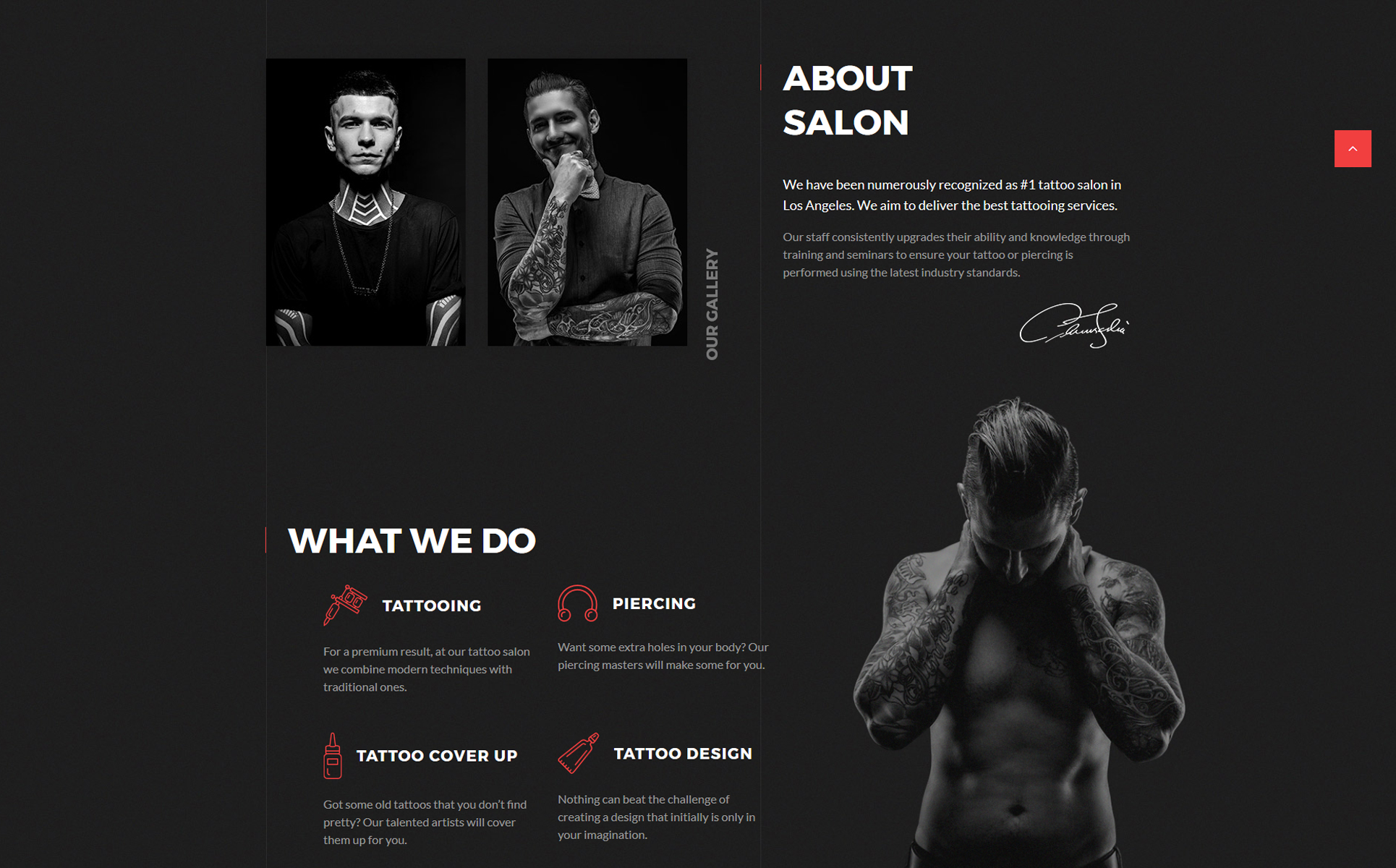 DarkInk - Tattoo Salon Multipage HTML5 Website Template