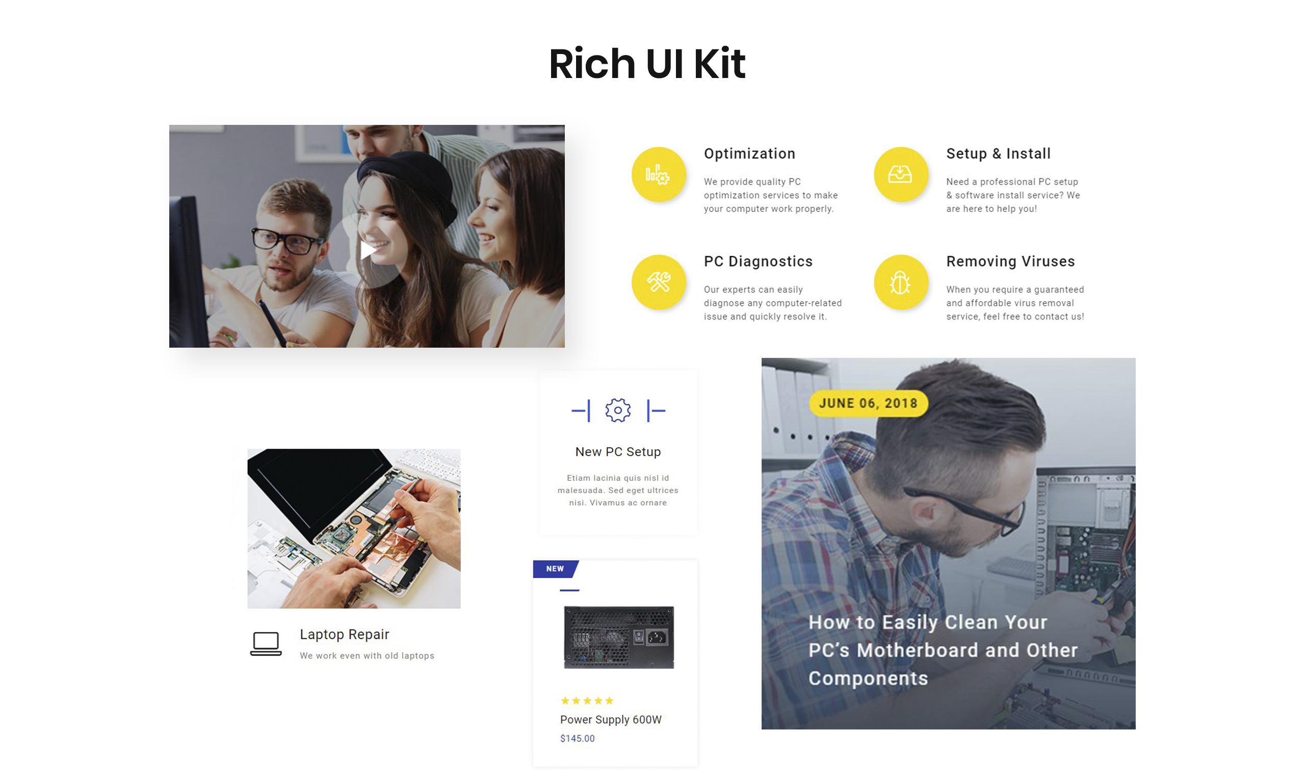 Compair Website Template