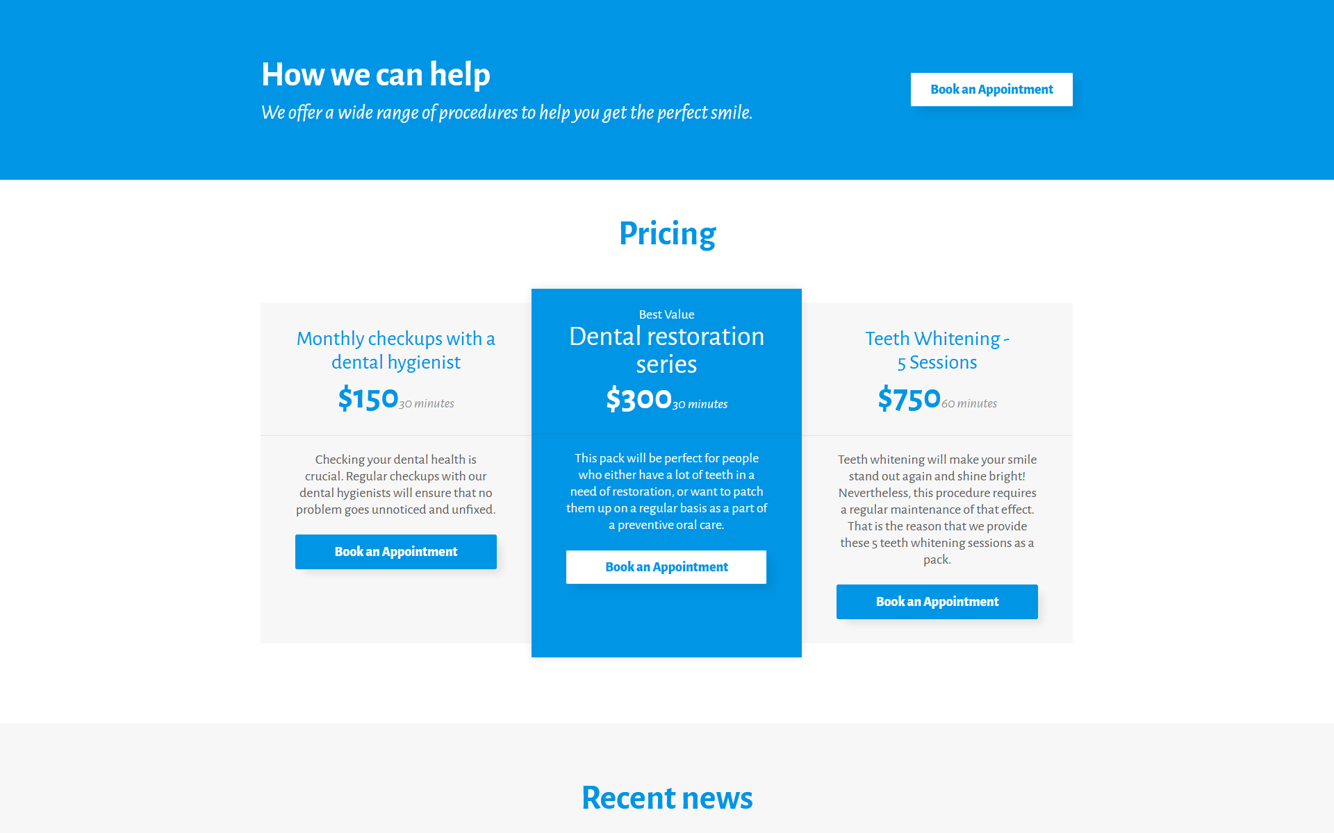 Dentaplus Accurate Dental Clinic Html Landing Page Template