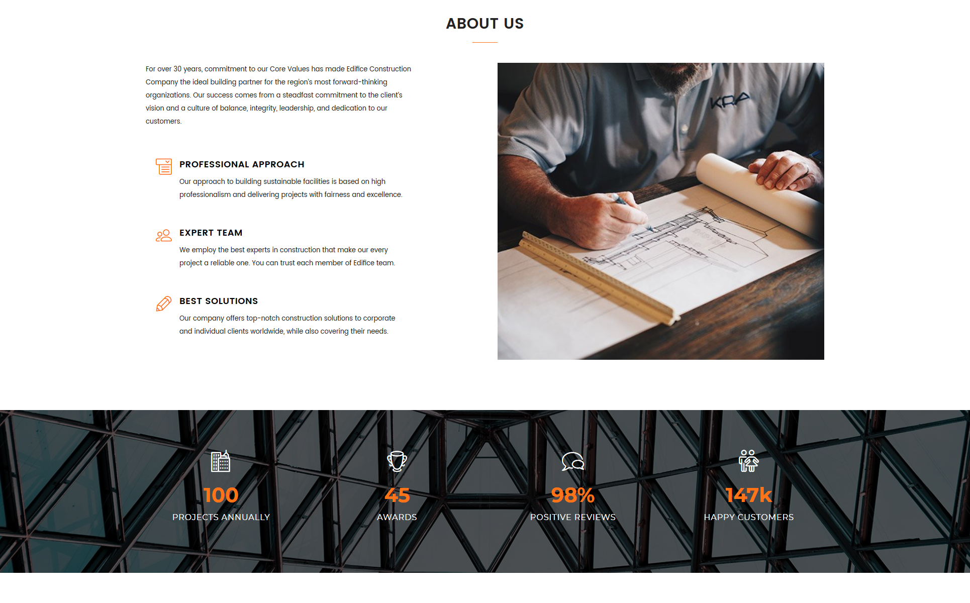 Edifice - Construction Services HTML Landing Page Template