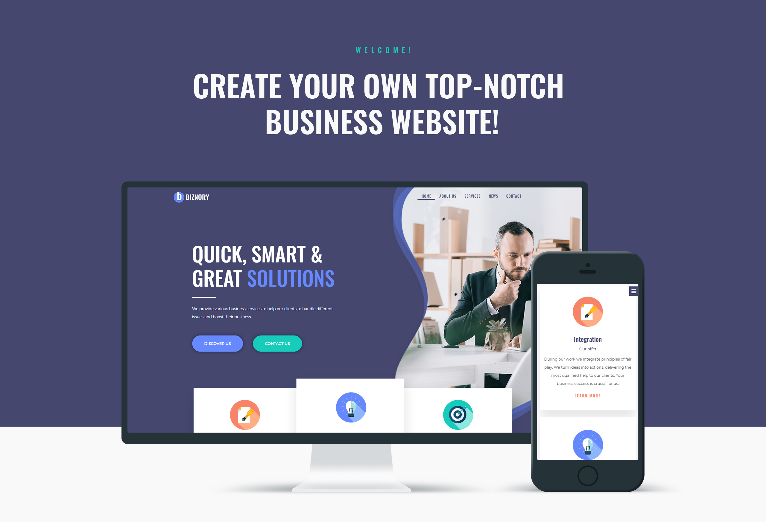 Biznory – Business Elementor WordPress Theme