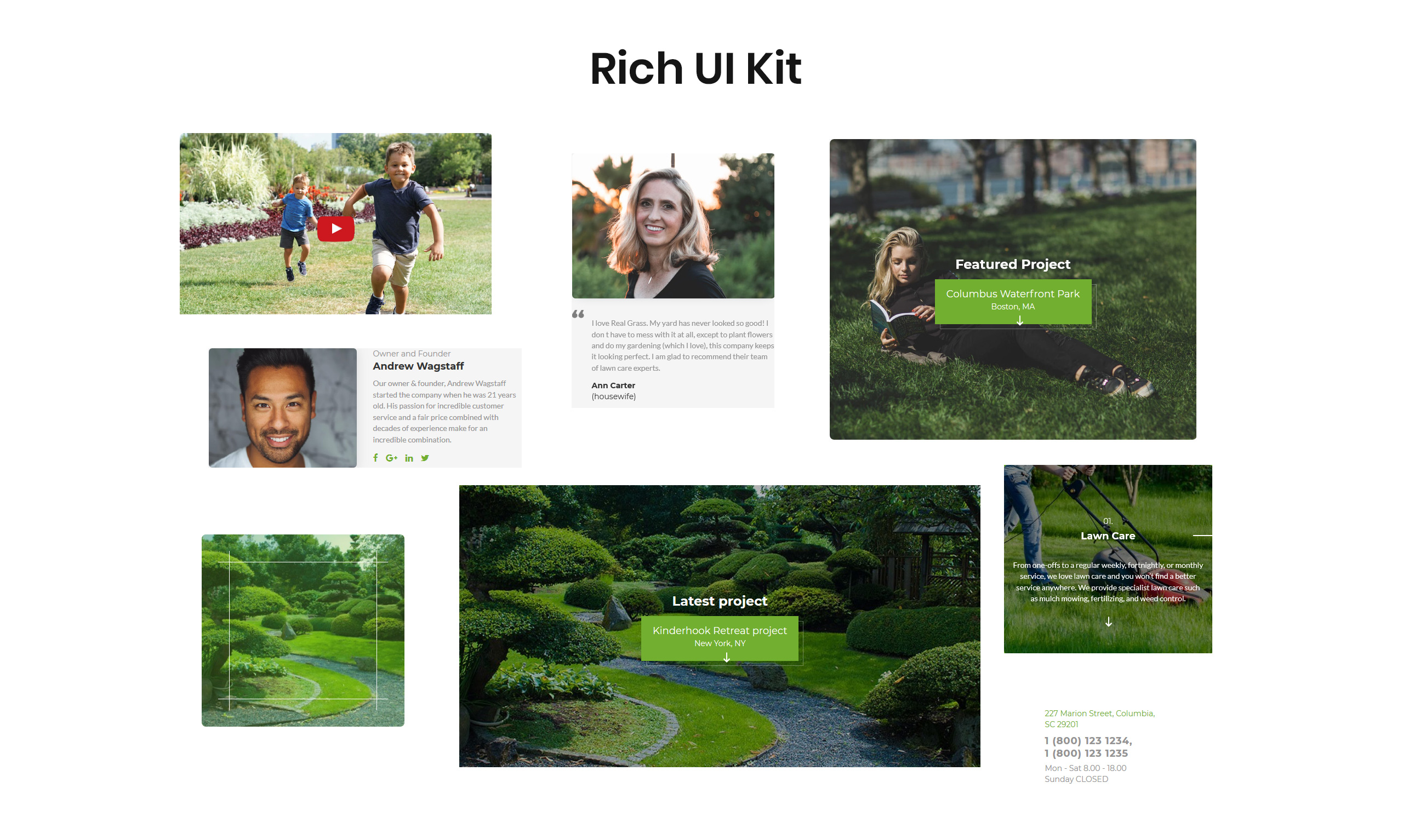 Real Grass - Garden Maintenance HTML Landing Page Template